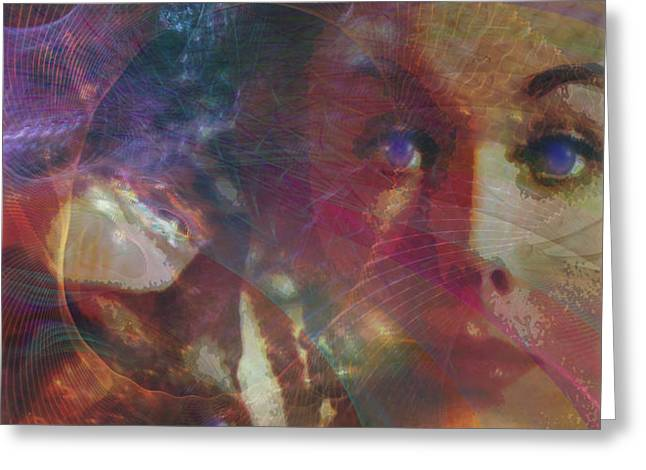 Pyewacket And Gillian Greeting Card by John Robert Beck