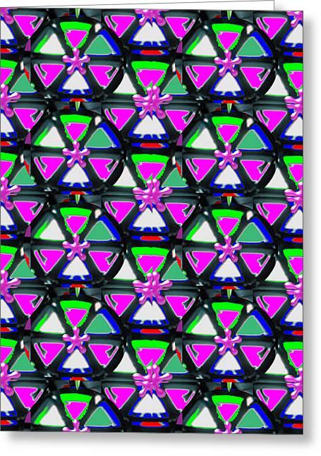 Pyramids Greeting Cards - Pyramid Dome Triangle Purple Elegant digital graphic signature   art  NavinJoshi  Artist created Ima Greeting Card by Navin Joshi