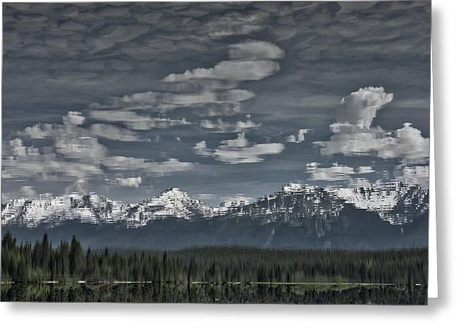 Snow Capped Greeting Cards - Pyramid Lake Impressionism Greeting Card by Stuart Litoff