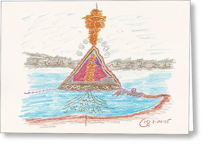Pyramids Drawings Greeting Cards - Pyramid Lake - Nevada Greeting Card by Mark David Gerson