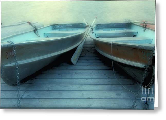 Quiet Time Greeting Cards - Pyramid Lake Row Boats Greeting Card by Bob Christopher