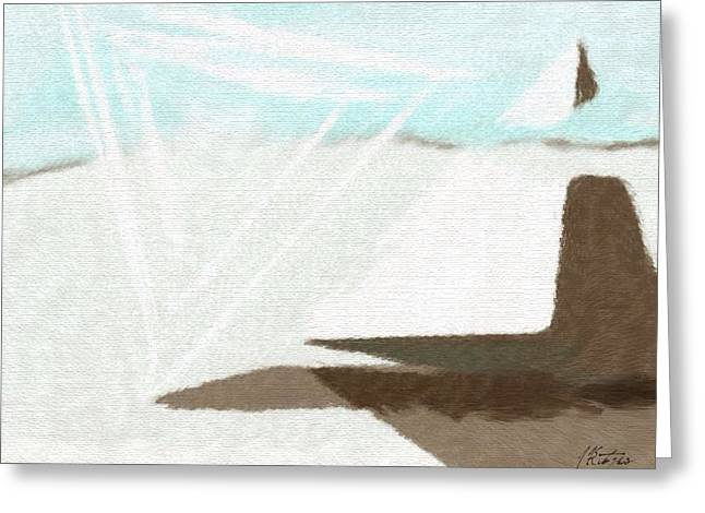 Pyramids Drawings Greeting Cards - Pyramid Meditation 6 Greeting Card by Judith Kitzes