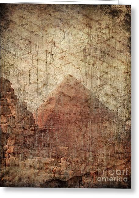 Torn Pyrography Greeting Cards - Pyramid Mystery Greeting Card by Jelena Jovanovic