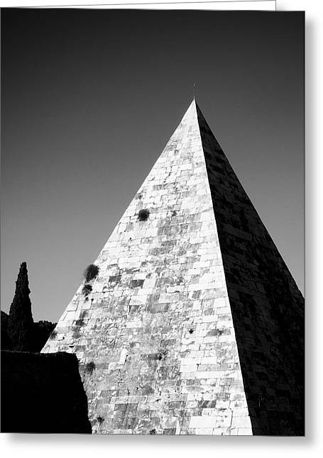 Architecture Greeting Cards - Pyramid of Cestius Greeting Card by Fabrizio Troiani