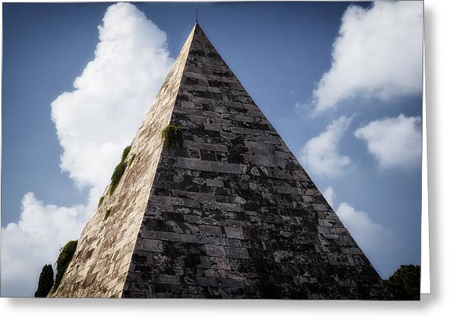 Italian Sunset Greeting Cards - Pyramid of Rome Greeting Card by Joan Carroll