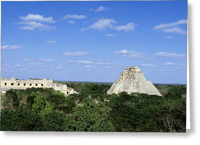 Royalty Greeting Cards - Pyramid Of The Magician Uxmal, Yucatan Greeting Card by Panoramic Images