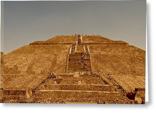 Tourist Site Greeting Cards - Pyramid of the Sun at Teotihuacan Greeting Card by Science Photo Library