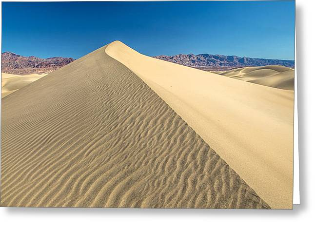 Sand Pattern Greeting Cards - Pyramid sand dunes Greeting Card by Pierre Leclerc Photography
