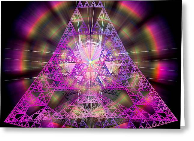 Pyramidian Greeting Card by Michael Durst