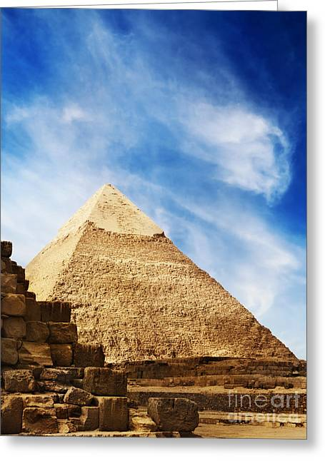 Civilization Pyrography Greeting Cards - Pyramids in Egypt  Greeting Card by Jelena Jovanovic