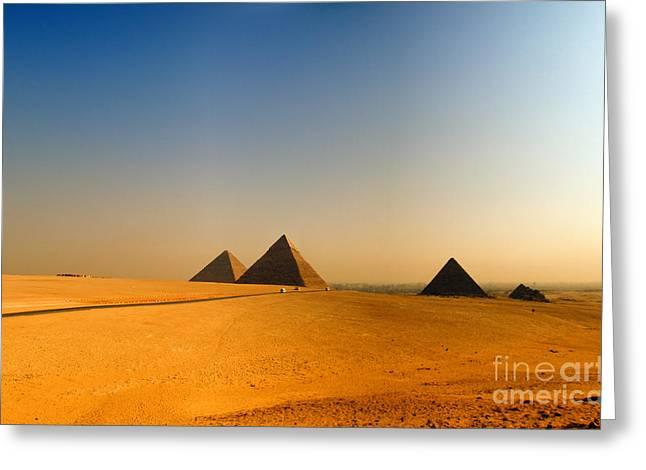 Pyramids Greeting Cards - Pyramids Of Giza 08 Greeting Card by Antony McAulay