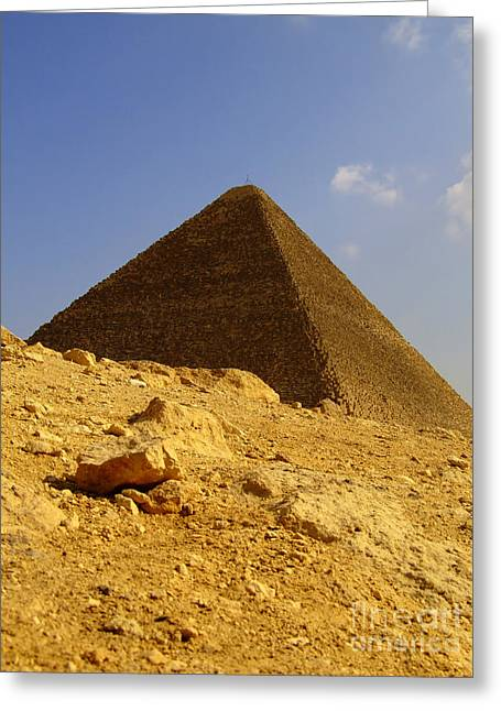 Pyramids Greeting Cards - Pyramids Of Giza 22 Greeting Card by Antony McAulay