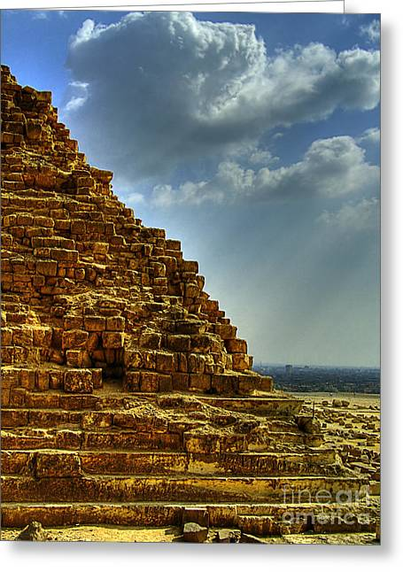 Pyramids Greeting Cards - Pyramids Of Giza 26 Greeting Card by Antony McAulay