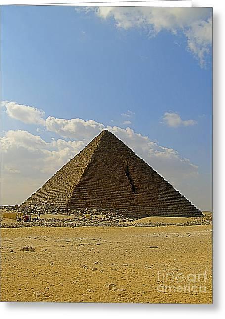 Pyramids Greeting Cards - Pyramids Of Giza 27 Greeting Card by Antony McAulay