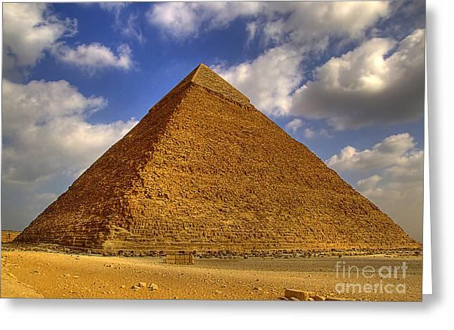 Pyramids Greeting Cards - Pyramids Of Giza 28 Greeting Card by Antony McAulay