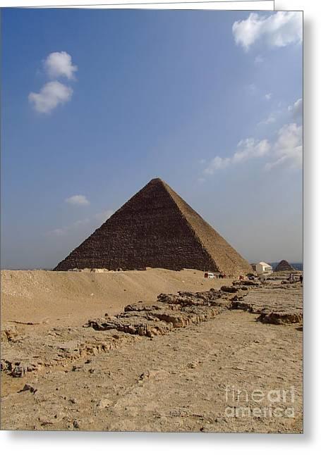 Pyramids Greeting Cards - Pyramids Of Giza 30 Greeting Card by Antony McAulay