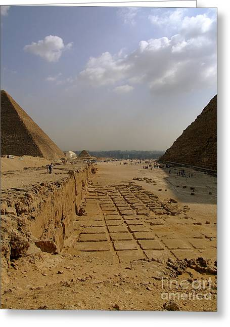 Pyramids Greeting Cards - Pyramids Of Giza 31 Greeting Card by Antony McAulay