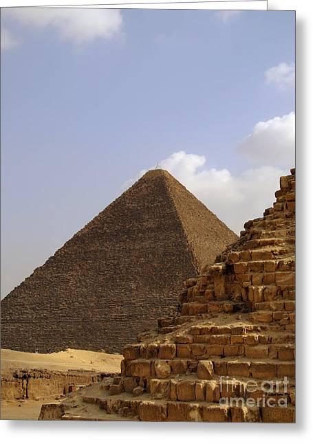 Pyramids Greeting Cards - Pyramids Of Giza 33 Greeting Card by Antony McAulay