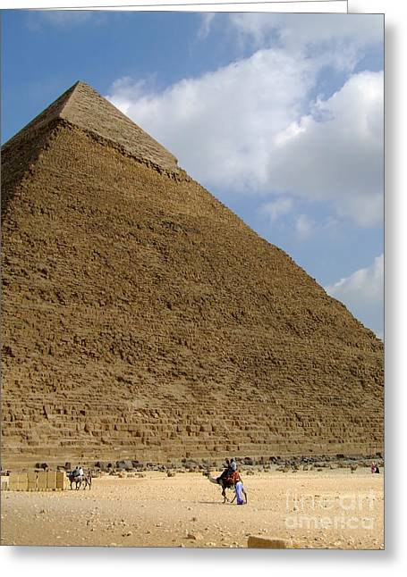 Pharaoh Greeting Cards - Pyramids Of Giza 35 Greeting Card by Antony McAulay
