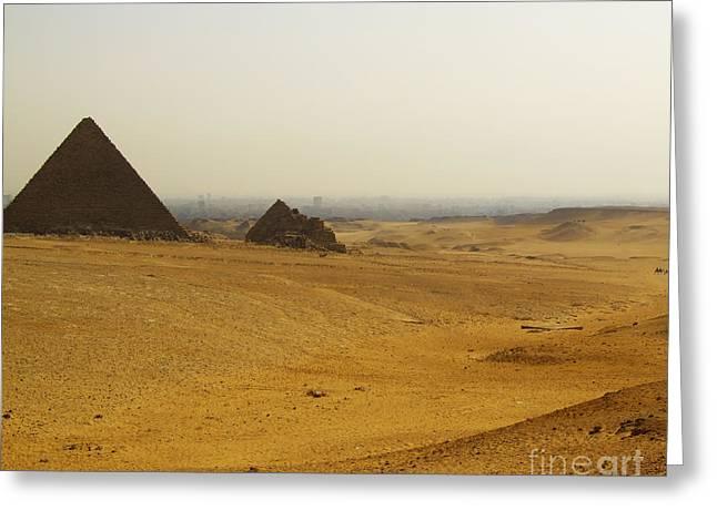 Pyramids Greeting Cards - Pyramids Of Giza Greeting Card by Antony McAulay