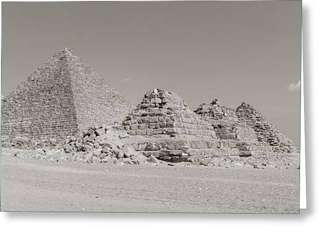 Wonders Of The World Greeting Cards - Pyramids Of Giza, Egypt Greeting Card by Panoramic Images