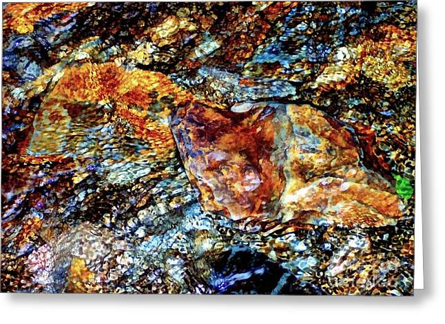 Pyrite Treasure Greeting Card by Janine Riley