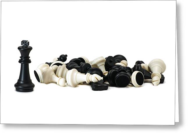 Chess Piece Greeting Cards - Pyrrhic Victory Greeting Card by Alexander Senin