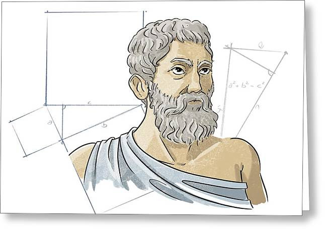 Pythagoras Greeting Card by Harald Ritsch