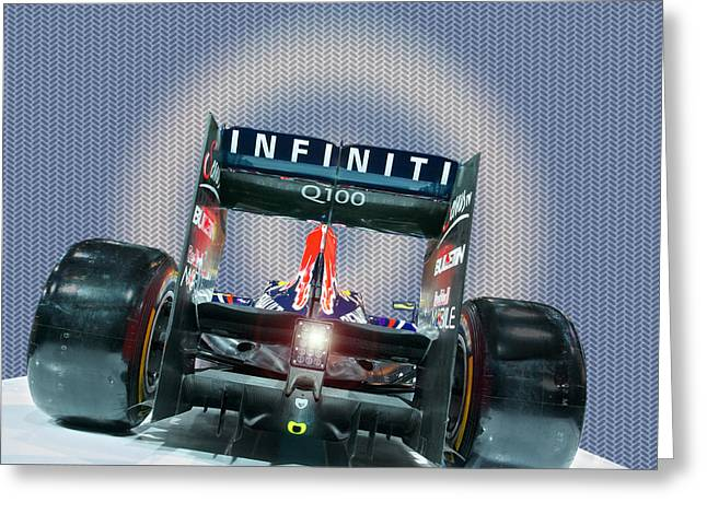 Q100 Redbull Greeting Card by Paul Barkevich