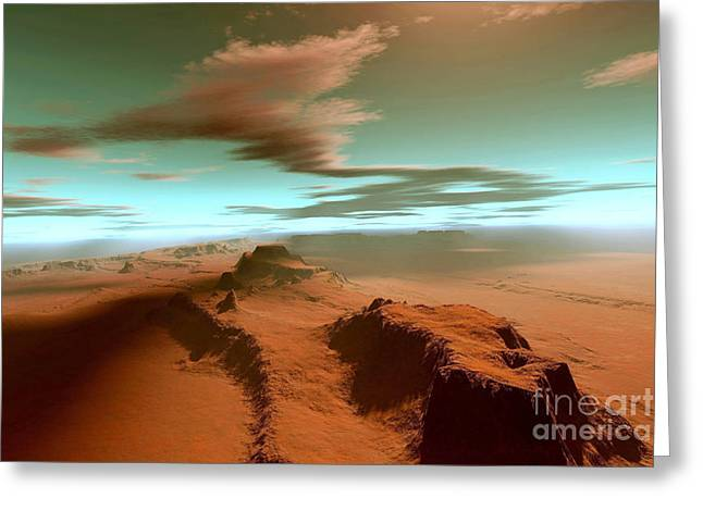 Desert Lake Digital Art Greeting Cards - Qou Tatus Greeting Card by Corey Ford