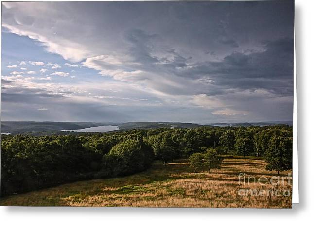 Randi Shenkman Greeting Cards - Quabbin Looking North Greeting Card by Randi Shenkman