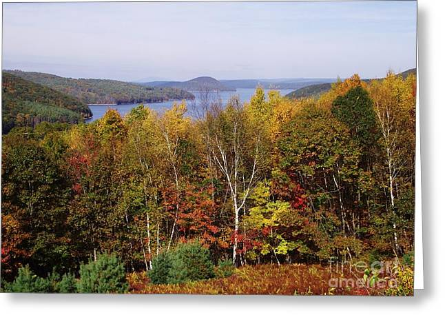 Belchertown Greeting Cards - Quabbin Reservoir Greeting Card by Michelle Welles