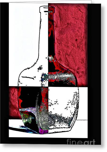 Quad Greeting Cards - Quad Bottle Composite Abstract Greeting Card by Walt Foegelle