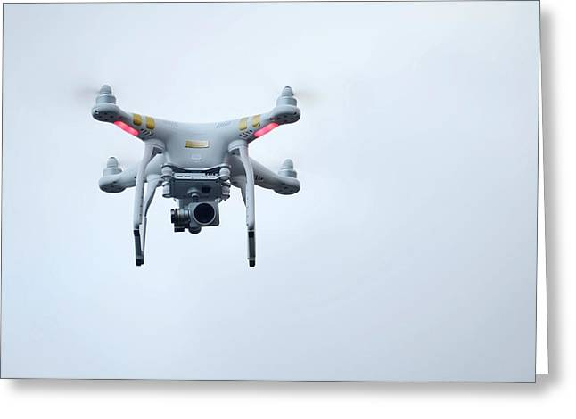 Quadcopter Drone With Camera Greeting Card by Cordelia Molloy