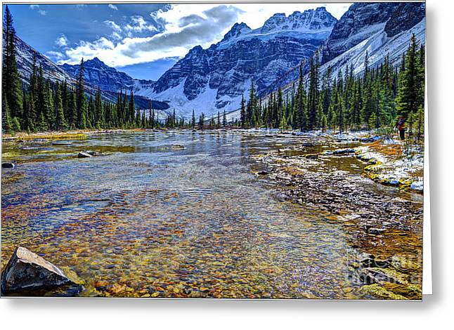 Consolation Greeting Cards - Quadra Mountain and Lower Consolation Lake Greeting Card by John Gobey