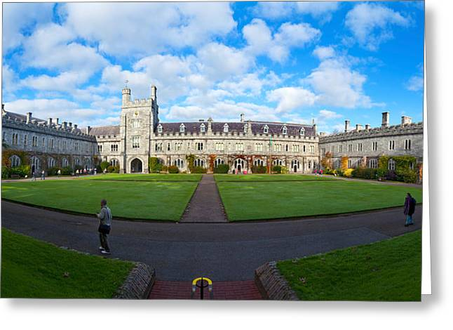 County Cork Greeting Cards - Quadrangle At An University, University Greeting Card by Panoramic Images