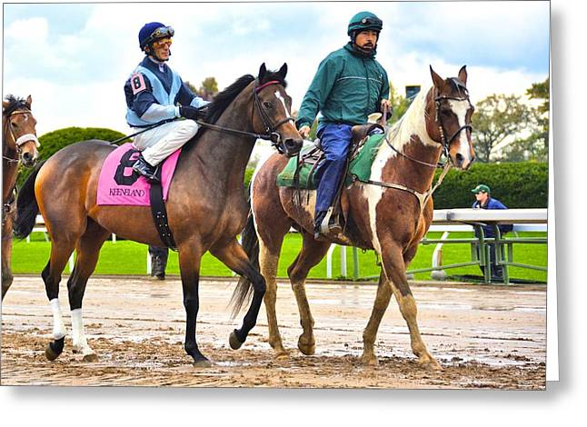 Keeneland Greeting Cards - Quad At Keeneland Greeting Card by R E D U B