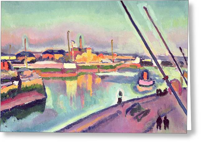 Sailboat Art Greeting Cards - Quai Notre Dame Le Havre Greeting Card by Georges Dupuis