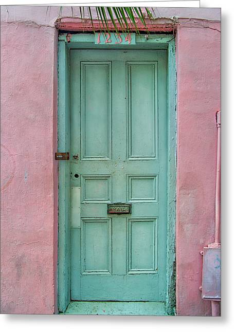 Brenda Bryant Photography Greeting Cards - Quaint Little Door in the Quarter Greeting Card by Brenda Bryant