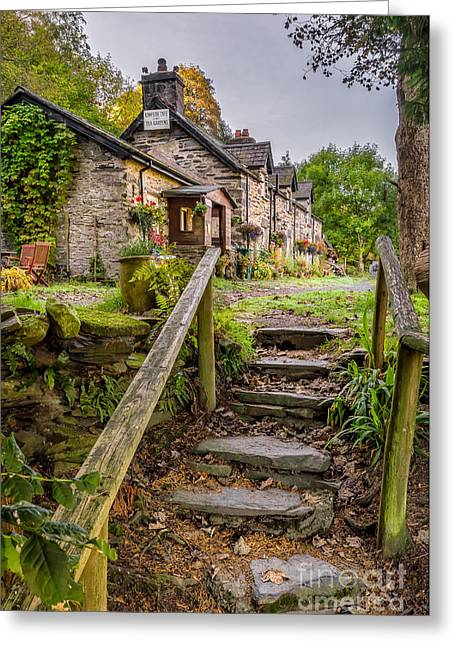 Stepping Stones Greeting Cards - Quaint Tea Room Greeting Card by Adrian Evans