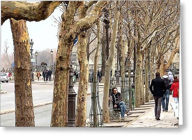 Francois Digital Greeting Cards - Quais Francois Mitterrand - Paris Greeting Card by J Morgan Massey