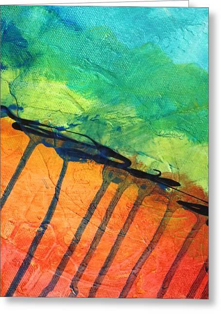 Dribble Greeting Cards - Quake Greeting Card by Nancy Merkle