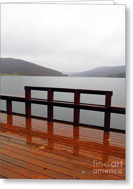 Quaker Greeting Cards - Quaker Lake in the Foggy Alleghenies Greeting Card by Matthew Peek