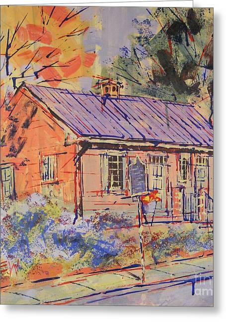Friends Meeting House Drawings Greeting Cards - Quaker Greeting Card by Larry Lerew