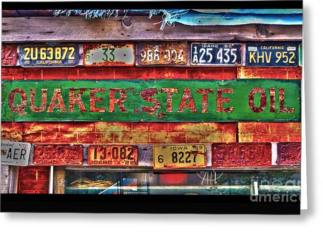 Quakers Digital Art Greeting Cards - Quaker State Motor Oil Greeting Card by Frank Martin