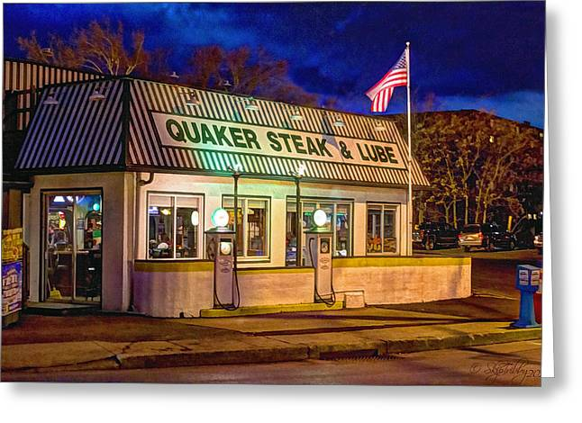 Skip Tribby Greeting Cards - Quaker Steak and Lube Greeting Card by Skip Tribby