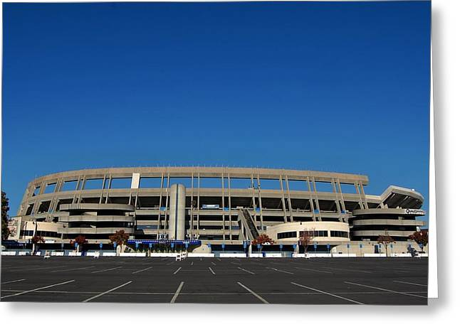San Diego Padres Stadium Photographs Greeting Cards - Qualcomm Stadium Greeting Card by See My  Photos
