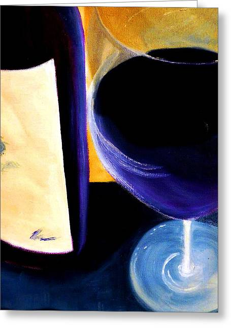 Beverage Greeting Cards - Quality Wine Greeting Card by Lisa Kaiser