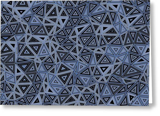 Algorithmic Abstract Greeting Cards - Quantum Geometry Gray Greeting Card by Judi Suni Hall