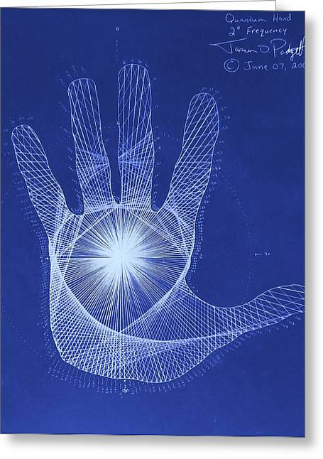 Quantum Hand Through My Eyes Greeting Card by Jason Padgett